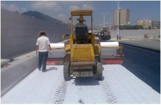 """土工布作水泥混凝土路面""""白+黑""""防裂措施的结  第1张"""